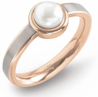 Boccia Titanium Titanový prsten s perlou 0137-02 62 mm