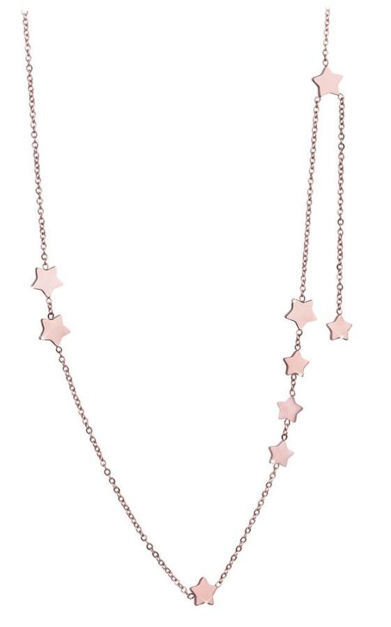 Troli Bronzový náhrdelník s hvězdičkami TO2350
