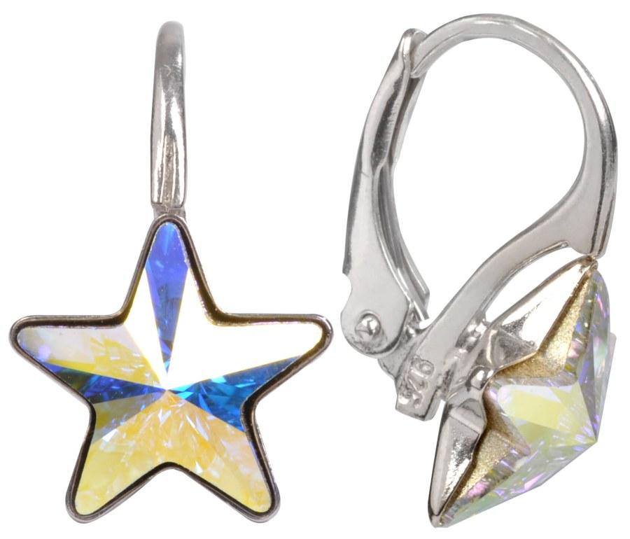 Troli Dívčí stříbrné náušnice Star 10 mm Crystal AB - Šperky Náušnice