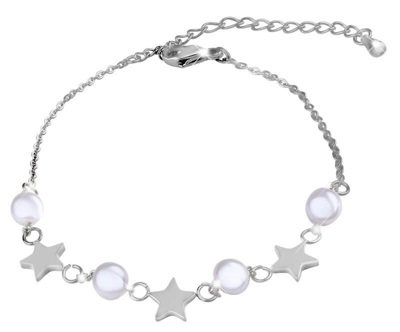 Troli Jemný ocelový náramek s perličkami