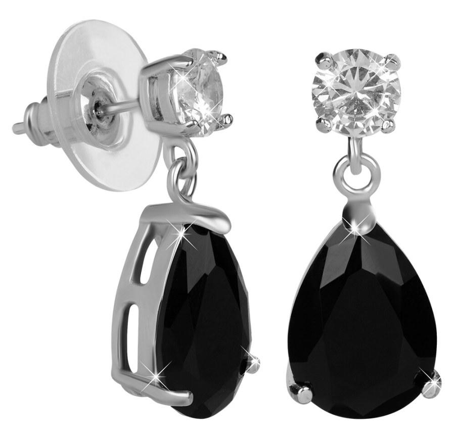 Troli Jiskřivé náušnice s černými krystaly TO2188
