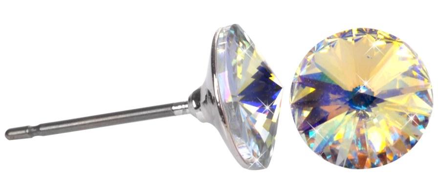 Troli Náušnice Rivoli 8 mm Crystal AB