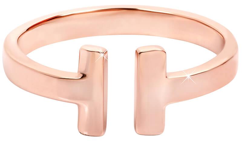 064b9c31dcf Troli Otevřený růžově pozlacený prsten z oceli 57 mm - Prsteny ...