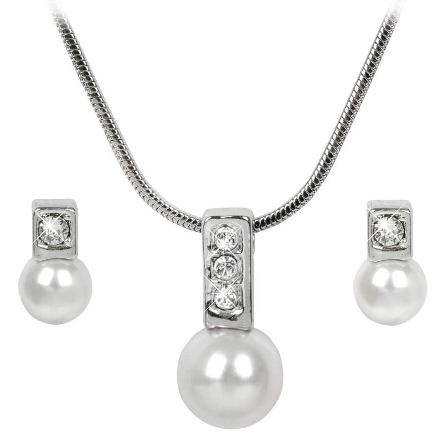 Troli Sada náhrdelníku a náušnic Pearl Caorle White - Šperky Soupravy šperků