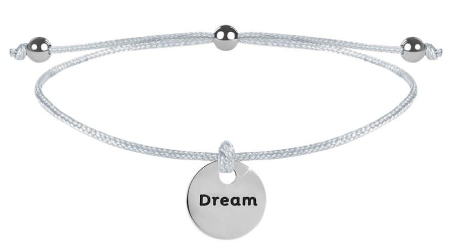 Troli Šňůrkový náramek Dream bílá/ocelová TO2612
