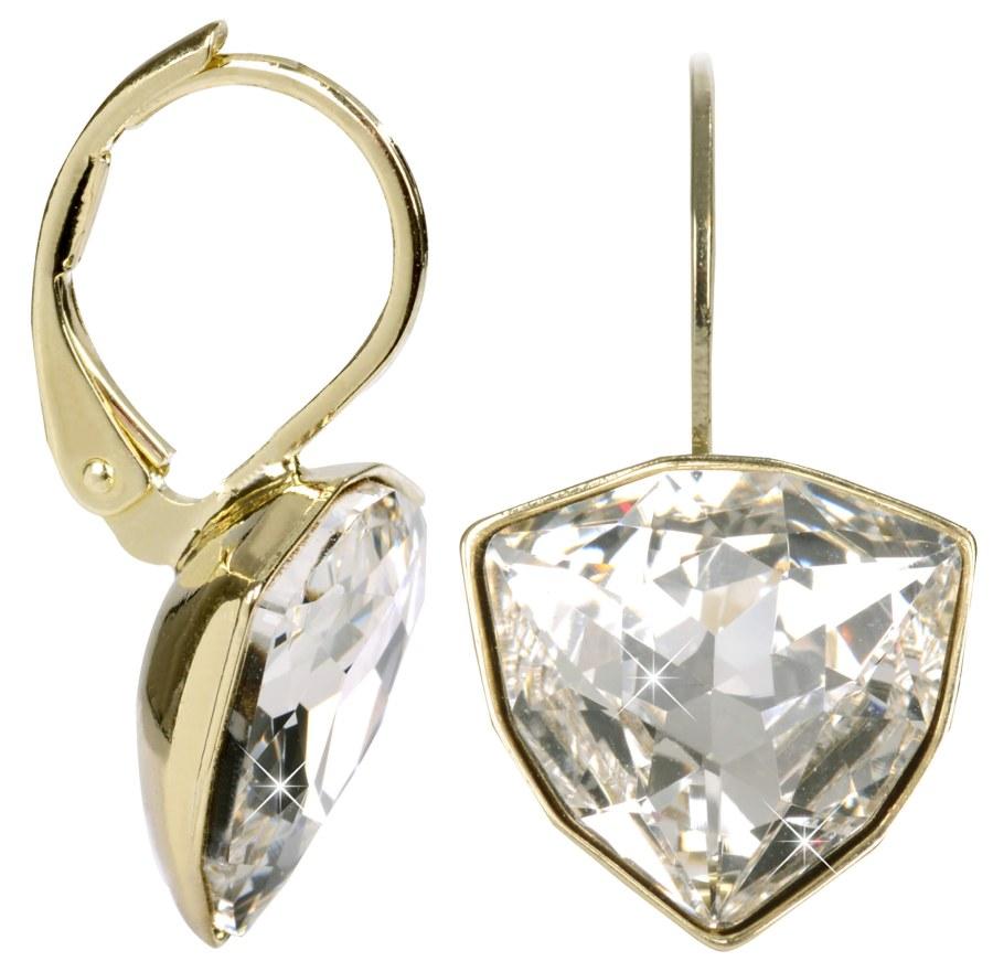 Troli Zlaté náušnice Trilliant Crystal - Šperky Náušnice