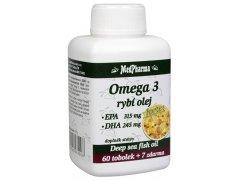 MedPharma Omega 3 Rybí olej Forte - EPA + DHA 60 tob. + 7 tob. ZDARMA