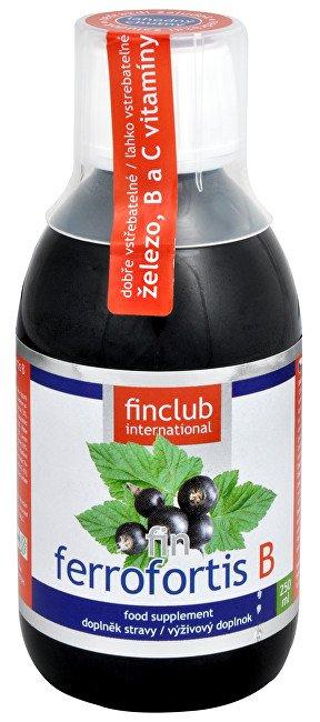 "Finclub Ferrofortis B - železo v ""tekuté"" formě, 250 ml"