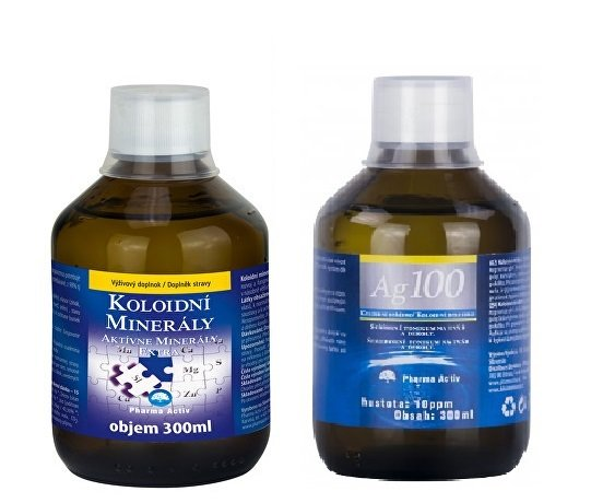 Pharma Activ Koloidní minerály 300 ml + Koloidní stříbro Ag100 (10ppm) 300 ml